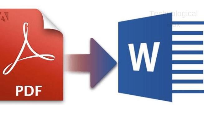التحويل من PDf إلي وورد مجاناً بدون برامج خارجية أو مواقع