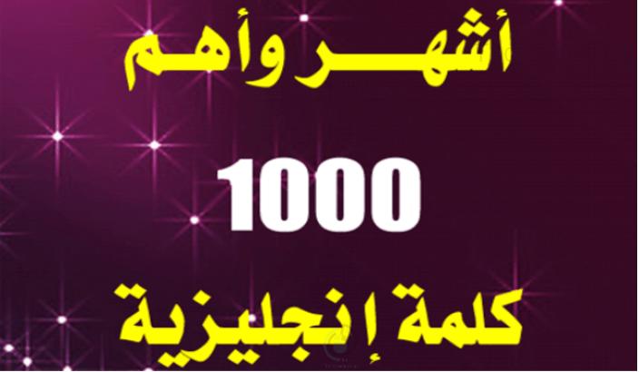 تطبيق مجاني يقدم لك أهم 1000 كلمة إنجليزية.. التطبيق يعمل بدون إنترنت