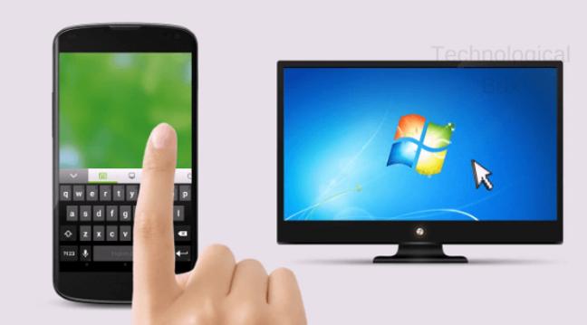 طريقة التحكم في الكمبيوتر أو اللاب توب فقط من خلال هاتفك المحمول