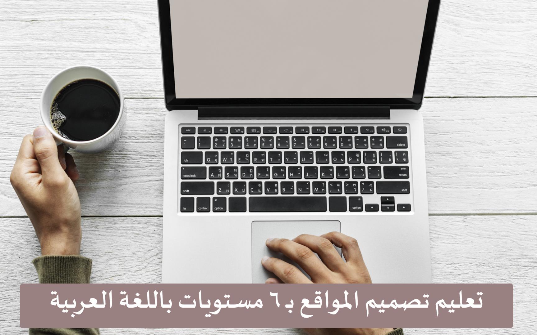 تعليم تصميم المواقع بـ 6 مستويات باللغة العربية.. مجانًا